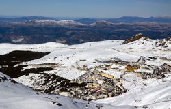 spansk stationssikt för horisontalsky Royaltyfri Fotografi