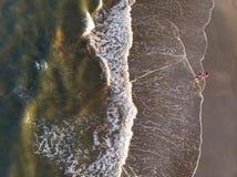 Spansk strandsikt arkivbild