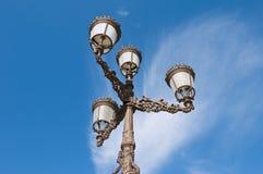 spansk streetlamp Arkivfoton