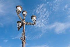 spansk streetlamp Arkivfoto