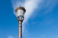 spansk streetlamp Royaltyfria Bilder