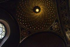 Spansk synagoga i Prague Arkivbild