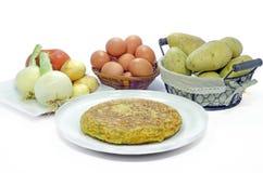 Spansk tortillastilleben Royaltyfri Bild