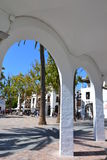Spansk townfyrkant Royaltyfria Bilder