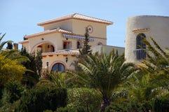 spansk villa arkivbild