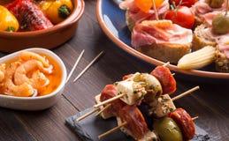 Spanska aptitretare kritiserar på Royaltyfri Foto