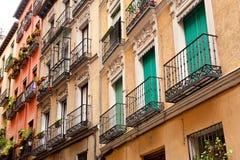 Spanska fönster Fotografering för Bildbyråer