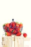 Spanska jordgubbar (den selektiva fokusen) Arkivfoton