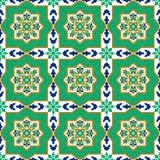 Spanska klassiska keramiska tegelplattor mönsan seamless Royaltyfria Bilder