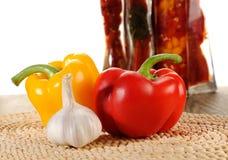 Spanska peppar - materielbild Fotografering för Bildbyråer