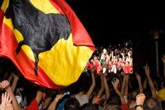 spanska supportrar Royaltyfri Foto