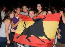 spanska supportrar Arkivfoton