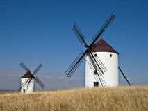 spanska windmills Royaltyfria Bilder