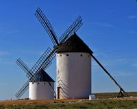 spanska windmills Royaltyfri Foto