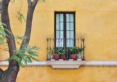 Spanskt gammalt fönster Royaltyfri Foto