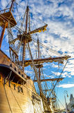 Spanskt gammalt skepp i Barcelona Fotografering för Bildbyråer