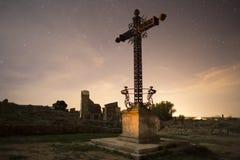Spanskt inbördeskrigkors av den stupade minnesmärken i Belchite Fotografering för Bildbyråer