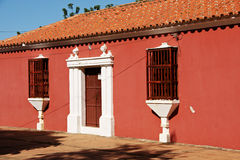 Spanskt kolonialt stilhus Arkivbild