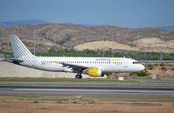 Spanskt low costflygbolag Vueling Arkivbild