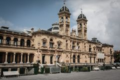 Spanskt stadshus royaltyfria foton