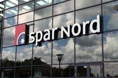 Spar o escritório do banco A/S de Nord em Holbæk, Dinamarca fotos de stock royalty free
