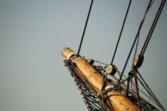 Bowsprit of a sailboat royalty free stock images