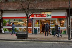 Spar store West London Stock Image