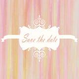 Spara bakgrunden för bröllop för ljus färg för datumrosa färgrosen den gula VI Royaltyfri Fotografi