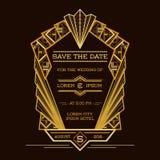 Spara datumet - bröllopinbjudankort stock illustrationer