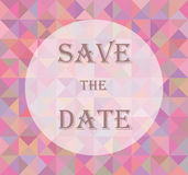 Spara datumet för bröllopet Arkivfoton