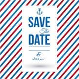 Spara datumet för personlig ferie. royaltyfri illustrationer
