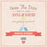 Spara datumet som gifta sig inbjudankortet Royaltyfria Bilder