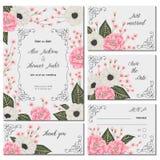 Spara datumkortet med rosa kamelior, vita anemonblommor och alstroemeria Blom- design för ferie för att gifta sig inbjudan royaltyfri illustrationer