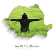 Spara den gröna Rumänien arkivfoto