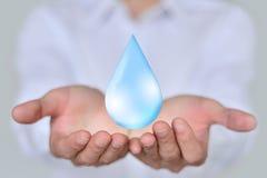 Spara Earth/vattenbegreppet Royaltyfri Fotografi