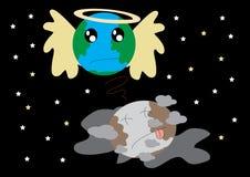 Spara jorden för död vektor illustrationer