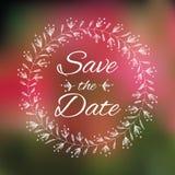 Spara kortet för datumbröllopinbjudan Royaltyfria Foton