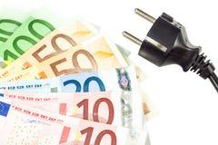 Spara pengar med energi - sparande Arkivbild