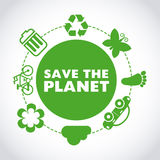 Spara planeten Royaltyfria Bilder