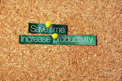 Spara tid, öka produktivitet Arkivbild