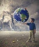 Spara världsbegreppet arkivbild