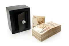 Sparade brasilianska pengar Arkivfoton