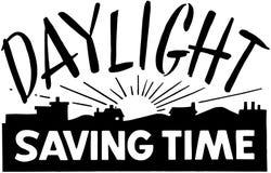 Sparande tid för dagsljus Arkivbild