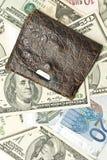 sparar dollar gammala pengar oss plånboken Royaltyfria Bilder