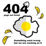 Sparare på fel för platser 404 royaltyfri illustrationer