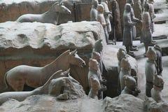 Guerrieri 2 di terracotta Fotografie Stock Libere da Diritti