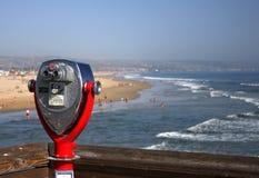 Sparato dal sentiero costiero con portata Immagine Stock
