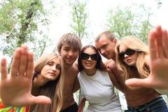 Sparato degli amici Fotografia Stock