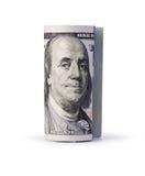 Sparato dei 100 dollari Immagini Stock