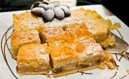 Sparato del dessert delizioso, dei frutti & dei dolci Fotografie Stock
